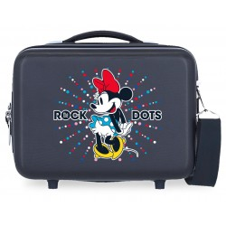 Neceser Adaptable a Trolley Rígido en ABS y con Bandolera Minnie Sunny Day