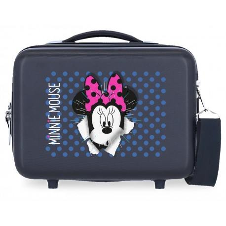 Neceser Rígido en ABS Adaptable a Trolley con Bandolera Minnie Sunny Day Azul Marino