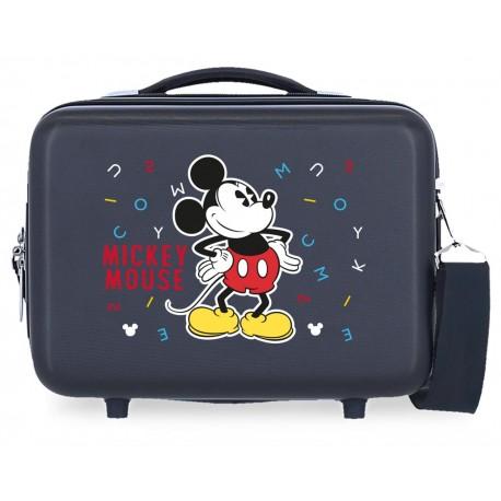 Neceser Rígido en ABS con Bandoler y Adaptable a Trolley  Have a Good Day Mickey Azul Marino