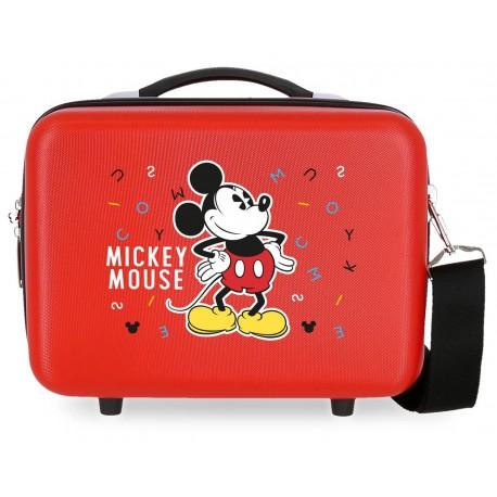 Neceser Rígido Adaptable a Trolley con Bandolera Have A Good Day Mickey Rojo