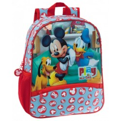 Mochila Guarderia Adaptable a carro Mickey Play