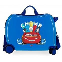 Maleta Infantil Rígida en ABS de 4 Ruedas Cars Champs Azul
