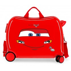 Maleta Infantil Rígida en ABS de 4 Ruedas  Cars LMQ Rojo