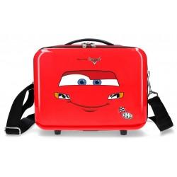 Neceser Adaptable a Trolley con Bandolera Cars LMQ Rojo