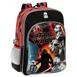 Mochila Grande 42 cm Adapatable Doble Compartimento Star Wars Baattle