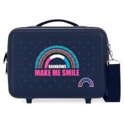 Neceser Adaptable a Trolley con Bandolera Movom Glitter Rainbow