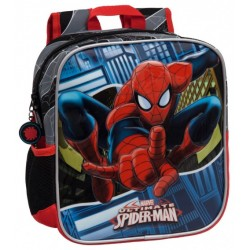 Mochila Guardería 25 cm Aptable a Carro  Spiderman
