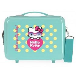 Neceser Rígido Adaptable a Trolley con Bandolera  Hello Kitty Pretty Glasses