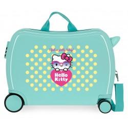 Maleta Infantil de 4 Ruedas Rígida en ABS Hello Kitty Pretty Glasses