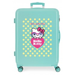 Maleta Mediana Rígida en ABS de 4 Ruedas Hello Kitty Pretty Glasses
