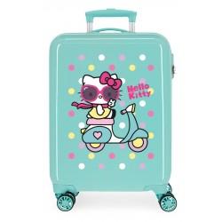 Maleta Cabina Rígidas en ABS de 4 Ruedas Girl Gang Hello Kitty Turquesa