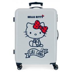 Maleta Mediana Rígida en ABS de 4 Ruedas Girl Gang Hello Kitty Azul Claro