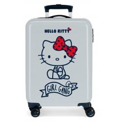 Maleta de Cabina Rígida en ABS de 4 Ruedas Girl Gang Hello Kitty Azul Claro