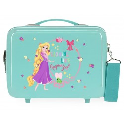Neceser Rígida en ABS Adaptable a Trolley con Bandolera Princess Celebration Rapunzel