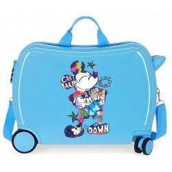 Maleta Infantil Rígida en ABS de 4 Ruedas Mickey Can´t Keep A Good Mouse Down Azul
