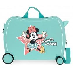 Maleta Infantil Rígida en ABS de 4 Ruedas Thats Easy Minnie Mouse Turquesa