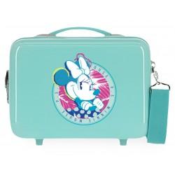 Neceser Adaptable a Trolley con Bandolera Thats Easy Minnie P.S. Turquesa