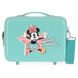 Neceser Adaptable a Trolley con Bandolera  Thats Easy Minnie Mouse Turquesa