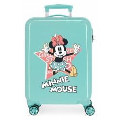 Maleta Cabina Thats Rígida en ABS de 4 Ruedas  Easy Minnie Mouse Turquesa