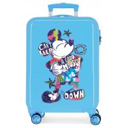 Maleta Cabina Rígida en ABS de 4 Ruedas Mickey Can´t Keep A Good Mouse Down Azul