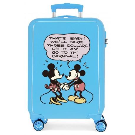 Maleta Cabina Rígida en ABS de 4 Ruedas Mickey & Minnie Thats Easy!