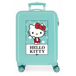 Maleta Cabina Rígida en ABS de 4 Ruedas Hello Kitty Bow Of Hello Kitty Turquesa
