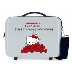 Neceser  Adaptable a Trolley con Bandolera Hello Kitty Bow Of Hello Kitty Azul