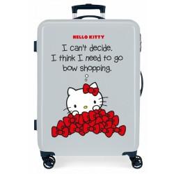 Maleta Mediana Rígida en ABS de 4 Ruedas Hello Kitty Bow Of Hello Kitty Azul
