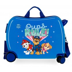 Maleta Infantil Rígida en ABS de 4 Ruedas Paw Patrol Pups Rule Azul