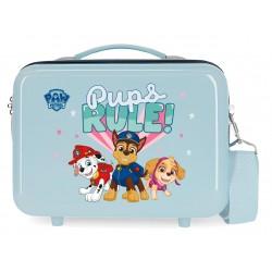 Neceser Adaptable a Trolley con Bandolera Paw Patrol Pups Rule Azul Claro