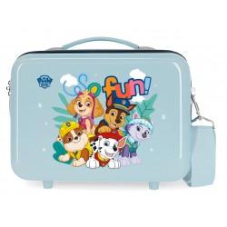 Neceser Adaptable a Trolley con Bandolera Paw Patrol So Fun Azul Claro