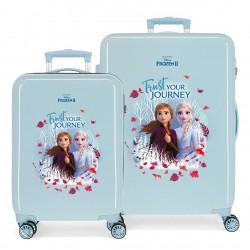 Juego de Maletas Cabina y Mediana en ABS de 4 Ruedas Frozen II Trust Your Journey