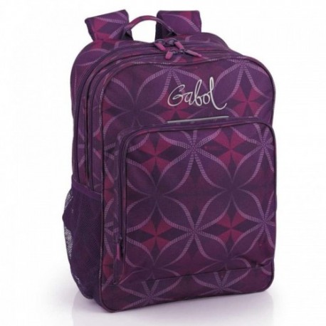 Mochila Doble Compartimento Adapotable  Gabol Silk