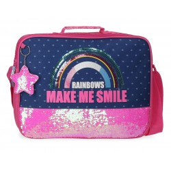 Cartera Extraescolar con Asa y Bandolera Movom Glitter Rainbow