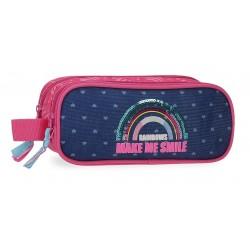 Portatodo Doble Compartimento con Asa Lateral  Movom Glitter Rainbow
