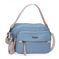 Bolso con Bandolera Doble Compartimento Pepe Jeans Zaida Azul