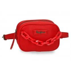 Riñonera con Correa Ajustable Pepe Jeans Chain Rojo