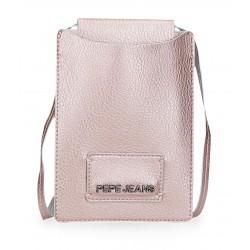 Bandolera Porta Móvil  Pepe jeans Cira en Color Rosa Metálico