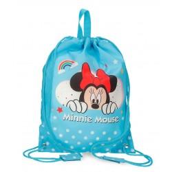 Bolsa de Merienda Infantil Minnie Rainbow Azul