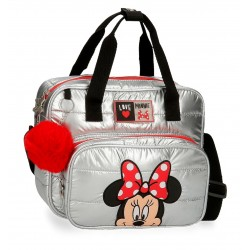Neceser Adaptable a Trolley con Asa Superior y Bandolera Minnie My Pretty Bow