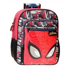 Mochila Mediana de 38cm Spiderman Comic en Rojo