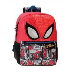 Mochila de Guardería de  32cm Spiderman Comic en Rojo