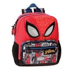 Mochila de Guardería de 28cm  Spiderman Comic en Rojo