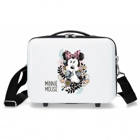 Neceser Rígido ABS Adaptable con Asa y Bandolera Minnie Mouse