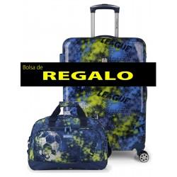 Maleta Mediana más Bolsa de Viaje de Regalo Rígida en ABS y Pc. Gabol Coach