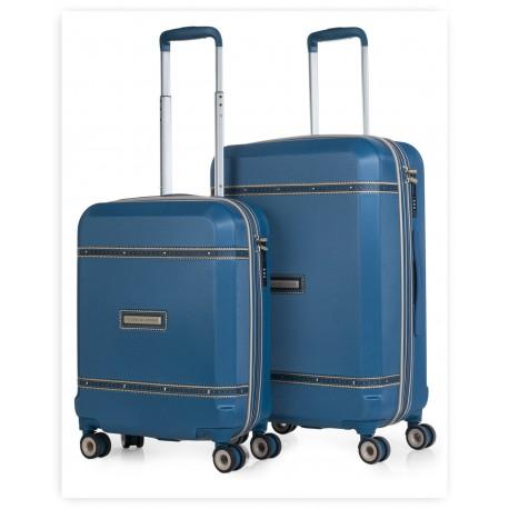 Juego maleta cabina y mediana Victorio & Lucchino Colección Mercurio Azul