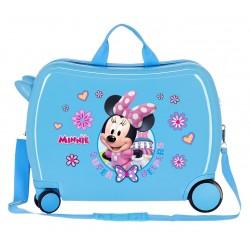 Maleta Infantil Correpasillos Rígida en ABS de 4 Ruedas Minnie Super Helpers Azul