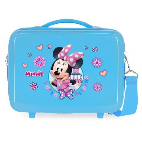 Neceser Rígido en ABS Adaptable y con Bandolera Minnie Super Helpers Azul