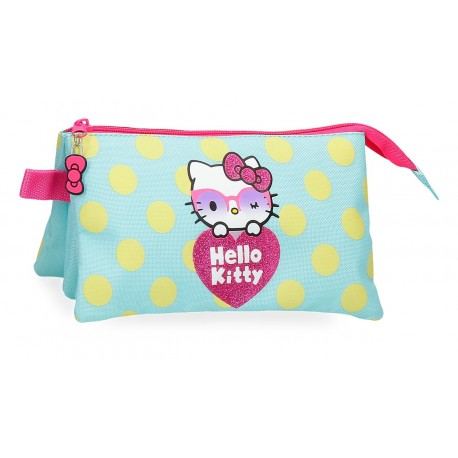 Portatodo Tres Compartimentos  Hello Kitty Pretty Glasses