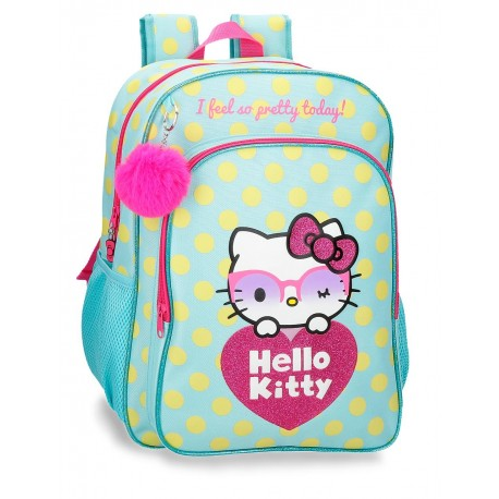 Mochila Grande de 40cm Hello Kitty Pretty Glasses